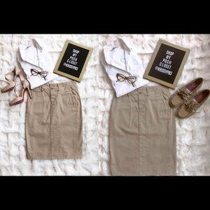 Ralph Lauren Sport Khaki Pencil skirt.